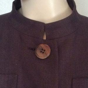 Yves Saint Laurent Jackets & Coats - Yves Saint Laurent purple linen skirt suit 38